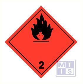 Brandbare gassen (2) vinyl 250x250mm