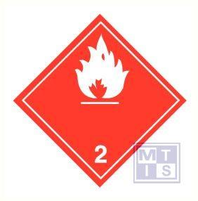 Brandbare gassen (2) vinyl 100x100mm