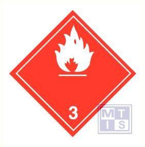 Brandbare vloeistoffen (3) vinyl 100x100mm