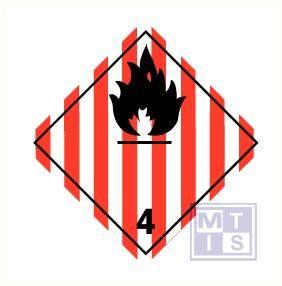 brandbare ontplofbare stoffen (4) vinyl 100x100mm