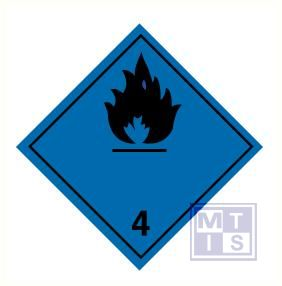 brandbare gassen in contact met water (4) vinyl 250x250mm