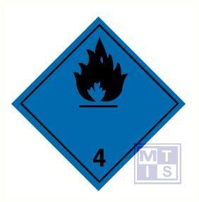 brandbare gassen in contact met water (4) vinyl 100x100mm