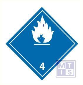 Brandbare gassen in contact water vinyl (4) 250x250mm