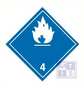 Brandbare gassen in contact water vinyl (4) 100x100mm