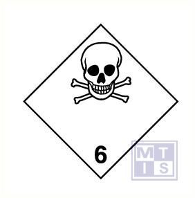 Giftige stoffen (6) vinyl 100x100mm