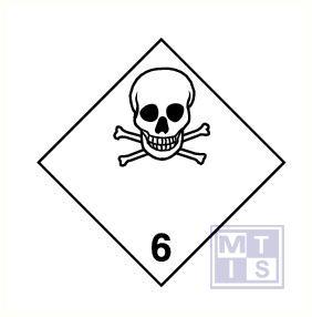 Giftige stoffen (6) vinyl 250x250mm