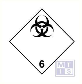 Infectueuze stoffen (6) vinyl 100x100mm