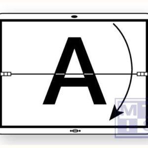 A-bord horizontaal scharnierend wit refl. alu 300x400mm