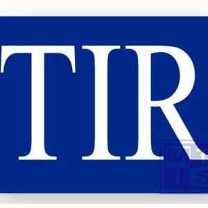 TIR-bord alu 250x400mm