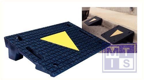 Hellingen rubber zwart 50x32cm 8 cm