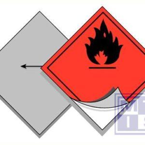 Neutrale plaat voor ADR symbolen inox 250x250mm