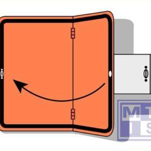 ADR bord verticaal scharnierend beugel refl. alu 300x400mm