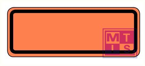 Half ADR bord refl. alu 300x120mm