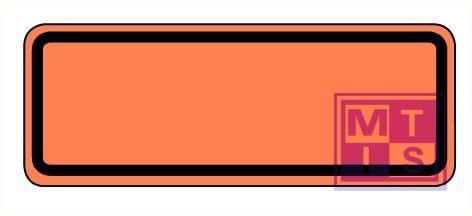 Half ADR bord niet-refl. vinyl 300x120mm
