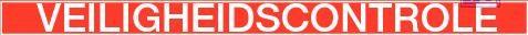 Inspectietag veiligheidscontrole rood pvc 80x150mm