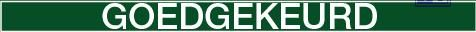 "Inspectietag goedgekeurd"" groen pvc 80x150mm"