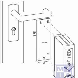 Montageplaat voor brandvertragende deur