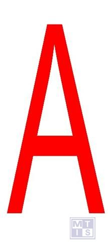 "Letter ""A"" rood vinyl 70mm"