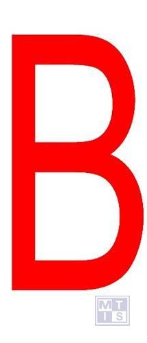 """Letter """"B"""" rood vinyl 70mm"""