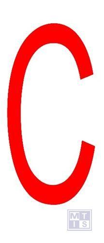 """Letter """"C"""" rood vinyl 70mm"""