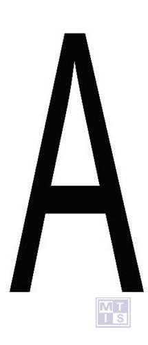 """Letter """"A"""" zwart vinyl 70mm"""