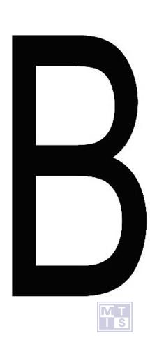 """Letter """"B"""" zwart vinyl 70mm"""