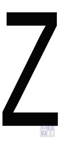 "Cijfer ""Z"" zwart vinyl 70mm"