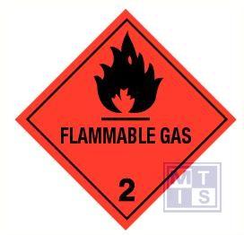 Flammable gas (2) vinyl 100x100mm