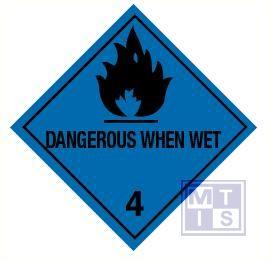 Dangerous when wet (4) vinyl 100x100mm