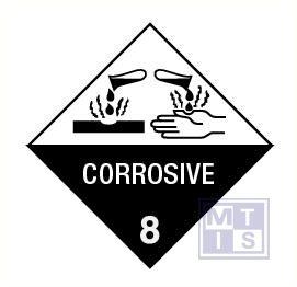 Corrosive (8) vinyl 100x100mm