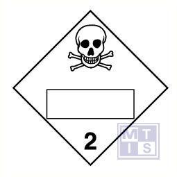 Giftige stoffen + blanco (2) vinyl 250x250mm
