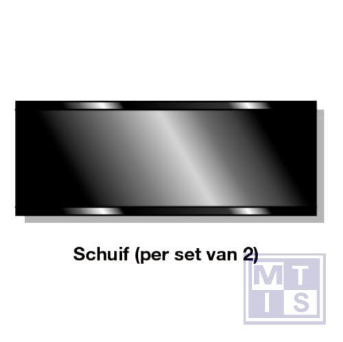 Schuif (per set van 2) inox