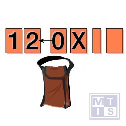 Cijferset in inox met opbergzakje 27 stuks