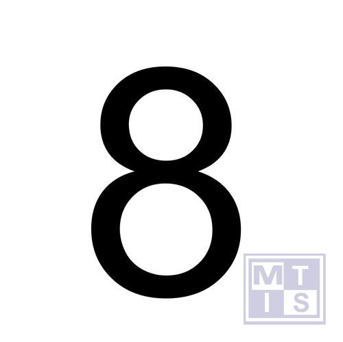 "Cijfer adr bord "" 8"" vinyl 80x110mm"