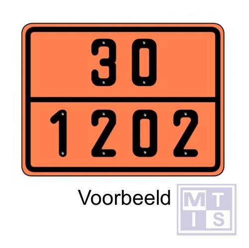ADR bord met code niet-refl. vinyl 300x400mm