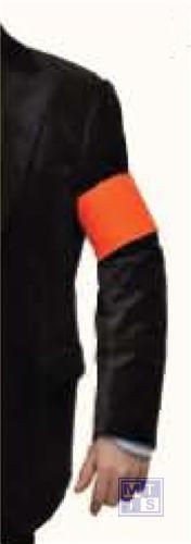 Armband oranje met klitteband sluiting