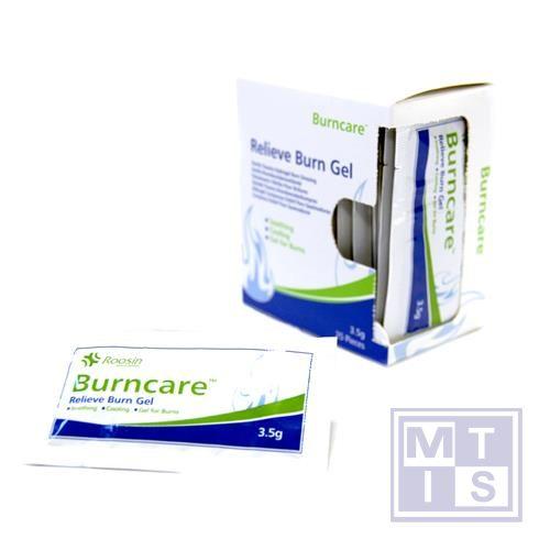 Burncare gel sachet 3,5 gram per 25 stuks in een zak