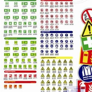 ISO 7010 poster PVC mat ATV Safety PVC 650X930mm