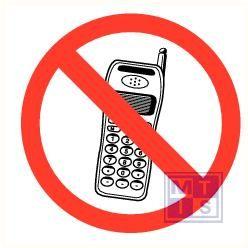 GSM verboden plexi recto 150x150mm