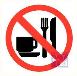Verboden eten en drinken plexi fotolum recto 150x150mm
