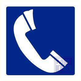 Telefoon plexi recto/verso 300x150mm