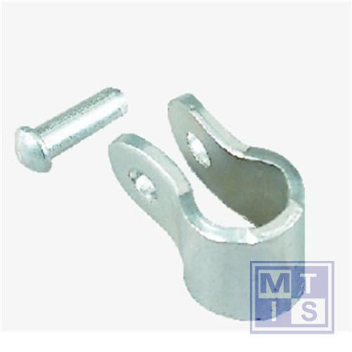 Toebehoren verbindingsbeugel  max 63mm schakels per 12 stuks