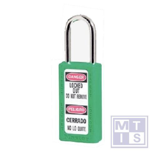 Hangslot xenoy plastic groen verschillende+loper B=38mm
