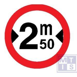 Verboden toegang brede voertuigen plat alu classe I 400mm