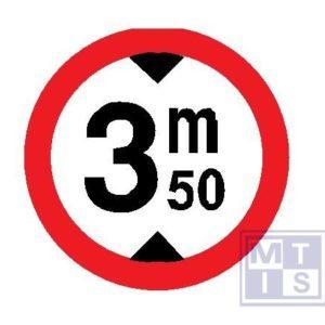 Verboden toegang hoge voertuigen T250 classe III 400mm