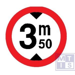 Verboden toegang hoge voertuigen T250 classe I 400mm