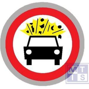Verboden toegang voertuig met gevaar T2000 classe III 400mm