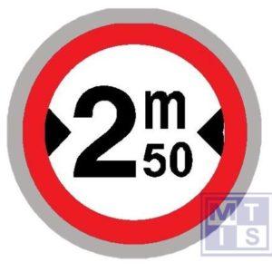 Verboden toegang brede voertuigen T2000 classe II 700mm