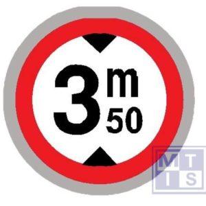 Verboden toegang hoge voertuigen T2000 classe III 700mm