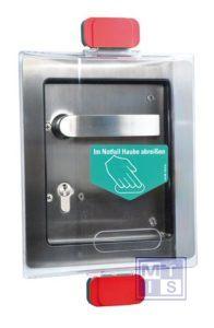 Beschermkap type S voor deurbeslag sporthallen